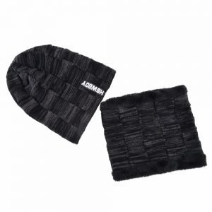 Winter men's Hat Scarf Sets knitted wool beanies men Hip-Hop cap Turban Caps Skullies Thick warm Hats For women gorros bone
