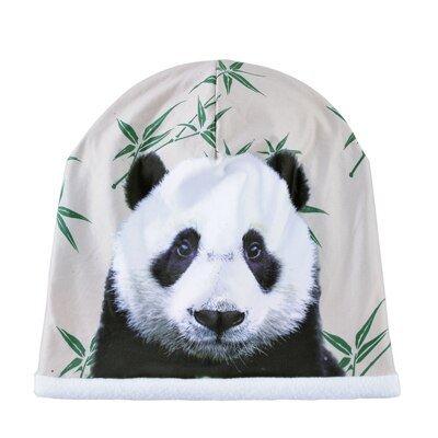Unisex hat 3D panda pattern bonnet men Hip Hop cap Plus velvet ski caps Double layer gorro winter Turban hats for women Beanies