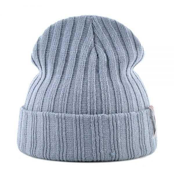 CAPSHOP Solid color Beanies men Knitting wool hat Thick warm bonnet skullies winter hats for women gorros stripe hip-hop cap