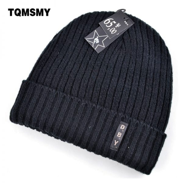 Winter hats for men double knitted warm beanies women Casual hip-hop cap plus velvet mask caps for women hat bad hair day