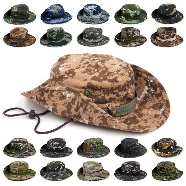 US MILITARY ARMY GI RIPSTOP BOONIE BUSH HAT JUNGLE CAP UCP ACU DIGITAL CAMO S-XL