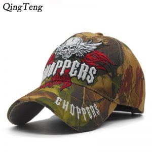 2020 New Embroidered Skull Cap Men Camouflage Hunting Baseball Caps Tactical Style Cap Casual Cool Dad Hat Fishing Bone Casquett