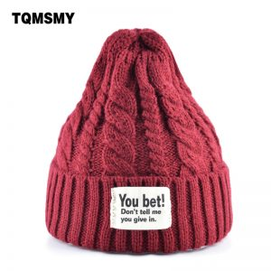 Steeple hat men Knitted wool skullies women's winter hats Solid Color Hip-hop Cap girls beanies women gorros bone turban caps