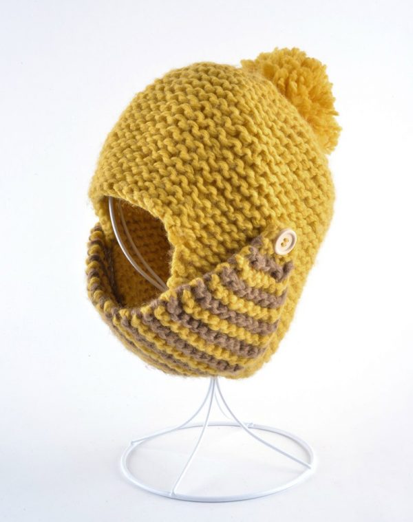 Fashion winter hats for womens masks beanie hand-knitted wool gorros warm roman-style hat lovely Mask cap touca bomber bonnet