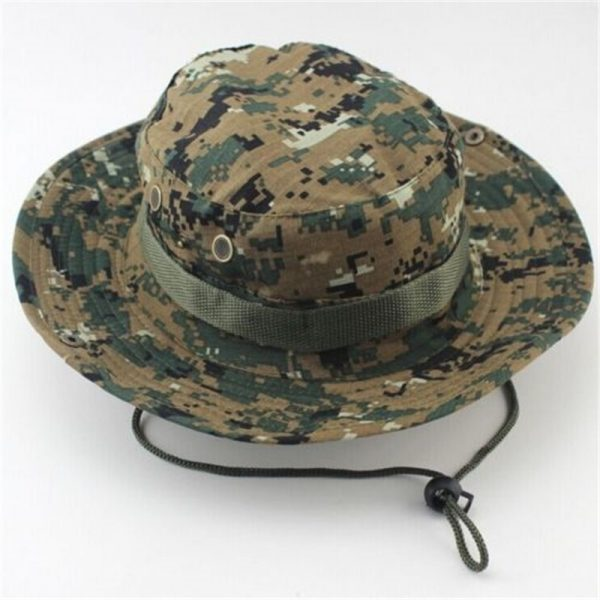 Classic US Combat Army Style Gi Boonie Bush Jungle Hat Sun Fishing Cap Men Women's Cotton Ripstop Camouflage Military Bucket Hat