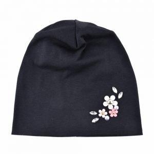 Casual cotton hats for women winter beanies autumn rhinestone hat Ladys pearl caps girls Turban cap Double Layer Skullies bone