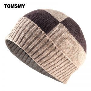 Winter Beanies Solid Color Hat men Knitted Warm Soft Beanie Double layer plus thick velvet Cap bonnet Gorro Caps For Men Women