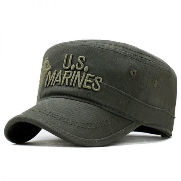 2020 United States US Marines Corps Cap Hat Military Hats Camouflage Flat Top Hat Men Cotton hHat USA Navy Embroidered Camo Hat