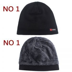 Skullies Beanies Men Winter Hat Women Knitted Hats For Men Cap Winter Beanie Hat Gorro Thick Warm Brimless Fur Bonnet Men's Cap