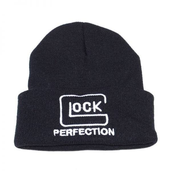 Tactical Glock Letter Knitted hat Crochet Elastic Cap Skullies Warm Winter Unisex Beanie Ski Hat Outdoor Hunting Jungle Hats
