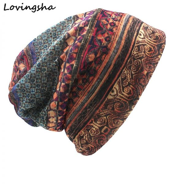 CAPSHOP Brand Autumn And Winter Dual-use Vintage Design Hats For Ladies thin Skullies And Beanies Women Scarf Face Mask HT015