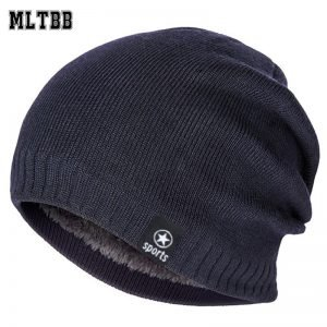 MLTBB Women Winter Hat Men Solid Color Knitting Beanies Hats Thick Warm Comfortable Skullcap Outdoor Cotton Ski Skullies Bonnet