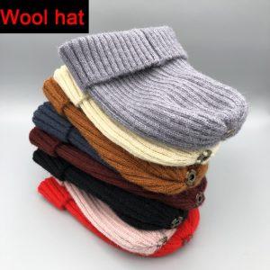 2021 New winter hat luxury quality Fox fur pompom hats beanie High quality Girls women bonnet winter hats for women